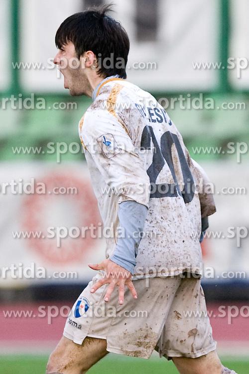 Goran Galesic of Gorica celebrates at football match of 25th Round of 1st Slovenian League  between NK Interblock and NK Hit Gorica, on March 31, 2010, in ZAK Stadium, Ljubljana, Slovenia. Gorica defeated Interblock 5-0. (Photo by Vid Ponikvar / Sportida)