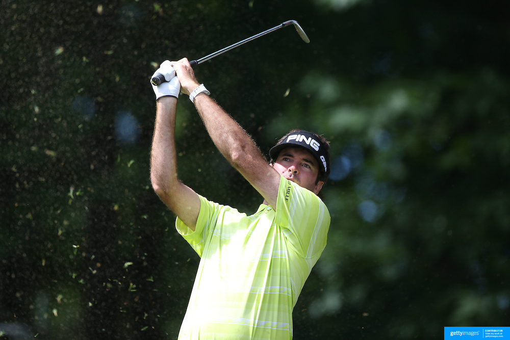 Bubba Watson, USA, in action during the third round of the Travelers Championship at the TPC River Highlands, Cromwell, Connecticut, USA. 21st June 2014. Photo Tim Clayton