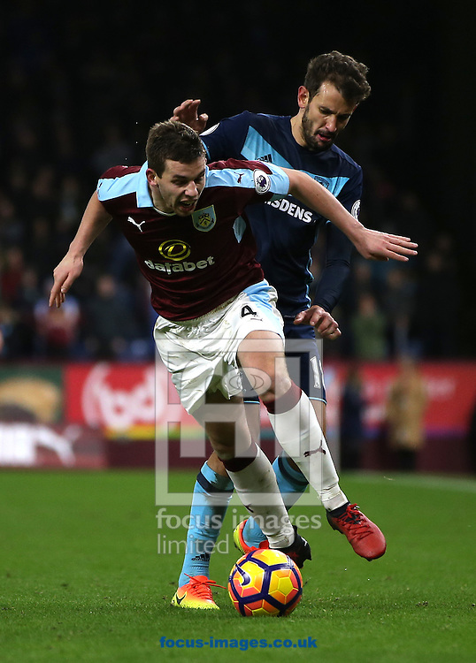 Jon Flanagan of Burnley and Cristhian Stuani of Middlesbrough during the Premier League match at Turf Moor, Burnley<br /> Picture by Christopher Booth/Focus Images Ltd 07711958291<br /> 26/12/2016