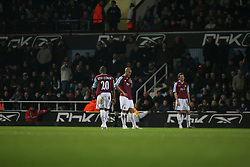 London, England - Tuesday, January 30, 2007: Liverpool against West Ham United's Nigel Quashie and Nigel Reo-Coker during the Premiership match at Upton Park. (Pic by Chris Ratcliffe/Propaganda)