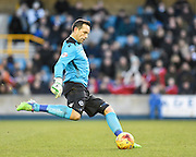Millwall goalkeeper David Forde during the Sky Bet Championship match between Millwall and Ipswich Town at The Den, London, England on 17 January 2015. Photo by David Charbit.