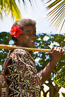 Fijian man, Nukubati Island Resort, Fiji Islands