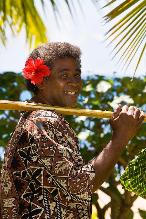 Fijian man, Nukubati Island Resort, Fiji Islands
