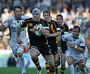 Wycombe, GREAT BRITAIN,  James HASKELL, running with the ball,  during the Heineken Cup [Pool 1]  Rugby Match,  London Wasps vs Castres Olympique, played at Adams Park Stadium on Sun, 12.10.2008 [Photo, Peter Spurrier/Intersport-images]