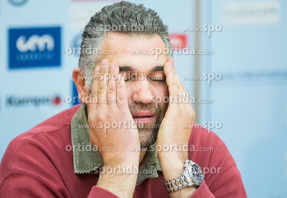 Boris Denic, head coach during press conference of Slovenian National Handball team before 24th Men's Handball World Championship Quatar 2015 on January 12, 2015 in Ljubljana, Slovenia. Photo by Vid Ponikvar / Sportida