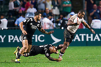 HONG KONG - APRIL 10:  Isake Katonibau of Fiji competes during Cup Final the 2016 Hong Kong Sevens match between Fiji and New Zealand at Hong Kong Stadium on April 10, 2016 in Hong Kong.  (Photo by Juan Manuel Serrano Arce/Getty Images)