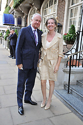 GALEN & HILARY WESTON at a reception for the Castle of Mey held at the Goring Hotel, London on 19th May 2009.