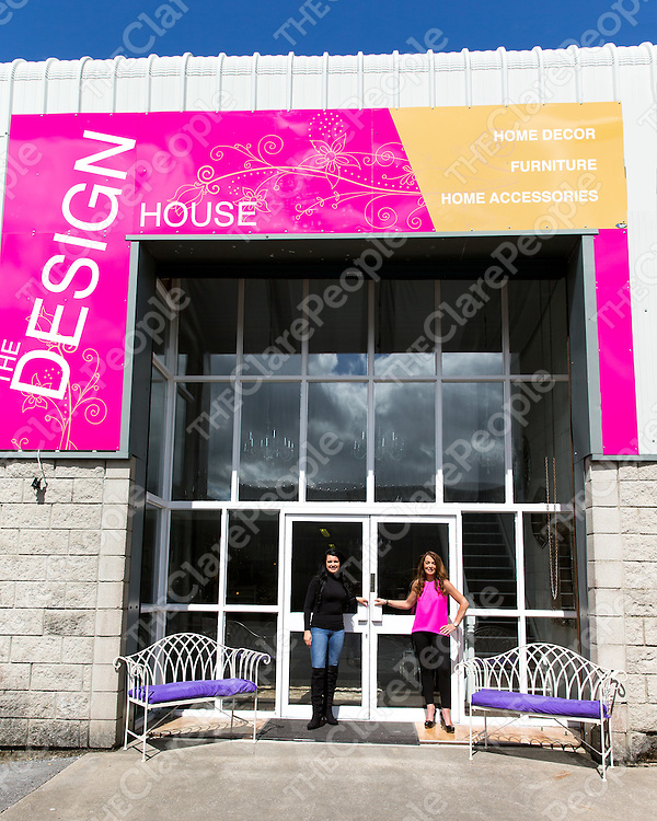 Sarah Conway and Mairead Hanbury at the entrance of Design House, Quin Rd, Ennis