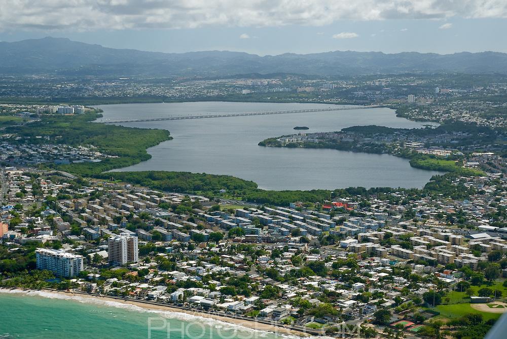 Aerial view of Laguna San José