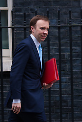 London, March 10th 2015. Ministers arrive at the weekly cabinet meeting at 10 Downing Street. PICTURED: Matthew Hancock, <br /> Minister of State for Energy,