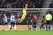 Aaron Ramsdale (12) of AFC Bournemouth catches the ball during the Premier League match between Bournemouth and Brighton and Hove Albion at the Vitality Stadium, Bournemouth, England on 21 January 2020.