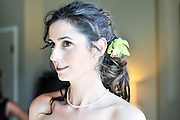 Bride getting ready in Tiburon, Ca.