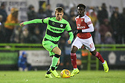 Forest Green Rovers Ben Morris(22) runs forward during the EFL Trophy group stage match between Forest Green Rovers and U21 Arsenal at the New Lawn, Forest Green, United Kingdom on 7 November 2018.