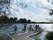 Hamburg. GERMANY.   Crew boating for Semi finals C/D/E, Saturday afternoon at the 2014 FISA Junior World rowing. Championships.  16:09:02  Saturday  09/08/2014  [Mandatory Credit; Peter Spurrier/Intersport-images]
