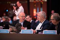 DEU, Deutschland, Germany, Berlin, 11.11.2017: Die beiden ehemaligen Bürgermeister von Berlin, Walter Momper und Klaus Wowereit, Landesparteitag der Berliner SPD im Hotel Interconti.