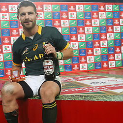 DURBAN, SOUTH AFRICA - JUNE 14: Man of the match Willie le Roux of South Africa during the Incoming Tour match between South Africa and Wales at Growthpoint Kings Park on June 14, 2014 in Durban, South Africa. (Photo by Steve Haag/Gallo Images)