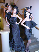 Models. Dinner to unveil the Van Cleef & Arpels jewellery collection 'Couture' with fashion by Anouska Hempel Couture. The Banqueting House, Whitehall Palace, London on 8th March 2005.ONE TIME USE ONLY - DO NOT ARCHIVE  © Copyright Photograph by Dafydd Jones 66 Stockwell Park Rd. London SW9 0DA Tel 020 7733 0108 www.dafjones.com