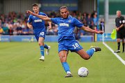 AFC Wimbledon defender Nesta Guinness-Walker (18) passing the ball during the EFL Sky Bet League 1 match between AFC Wimbledon and Rotherham United at the Cherry Red Records Stadium, Kingston, England on 3 August 2019.