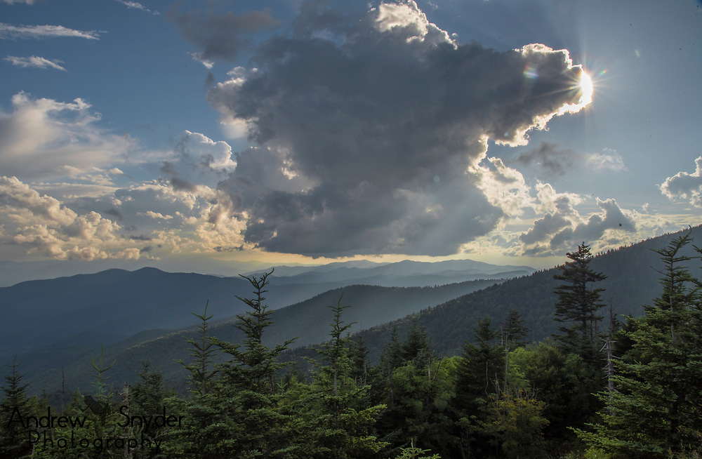Sunset over the Great Smoky Mountains, Tennessee