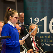 08/12/2015                <br /> Limerick City & County Council launches Ireland 2016 Centenary Programme<br /> <br /> An extensive programme of events across the seven programme strands of the Ireland 2016 Centenary Programme was launched at the Granary Library, Michael Street, Limerick, last night (Monday, 7 December 2015) by Cllr. Liam Galvin, Mayor of the City and County of Limerick.<br /> <br /> Led by Limerick City & County Council and under the guidance of the local 1916 Co-ordinator, the programme is the outcome of consultations with interested local groups, organisations and individuals who were invited to participate in the planning and implementation of events and initiatives during 2016.  <br /> <br /> Pictured at the event was Laura McNamara, St. Patricks Girls NS. Picture: Alan Place