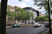 Eastern Europe, Hungary, Budapest, The House of Terror museum and memorial to fascist and communist oppression on Andrassy street. The former secret police headquarters