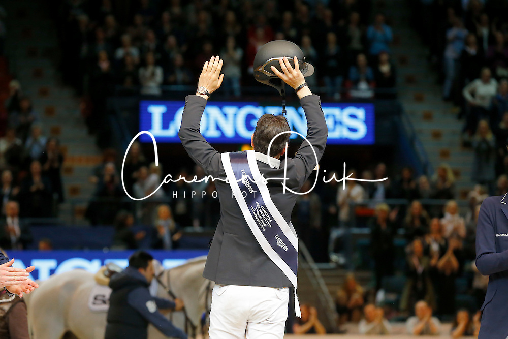 Guerdat Steve, (SUI)<br /> Winner of the Longines FEI World Cup Jumping Final III B<br /> © Dirk Caremans