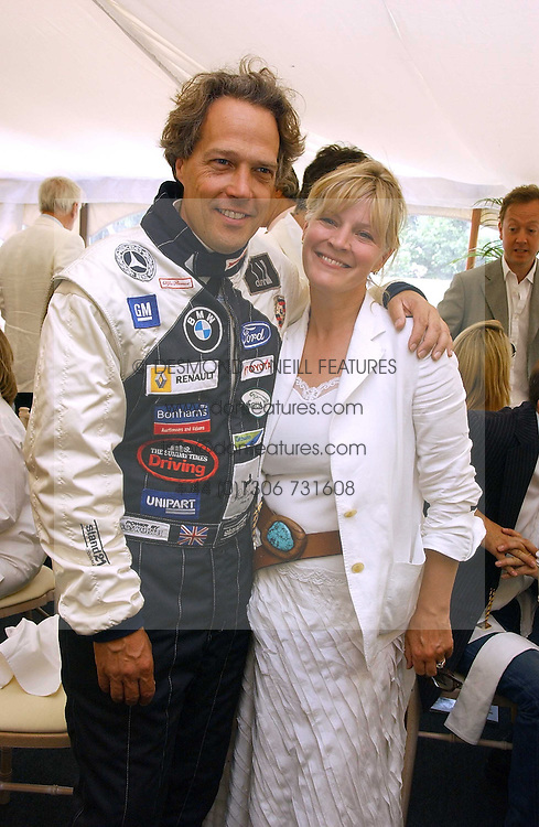 """The EARL & COUNTESS OF MARCH at the Goodwood Festival of Speed on 9th July 2006.  Cartier sponsored the """"Style Et Luxe' for vintage cars on the final day of this annual event at Goodwood House, West Sussex and hosted a lunch.<br /><br />NON EXCLUSIVE - WORLD RIGHTS"""