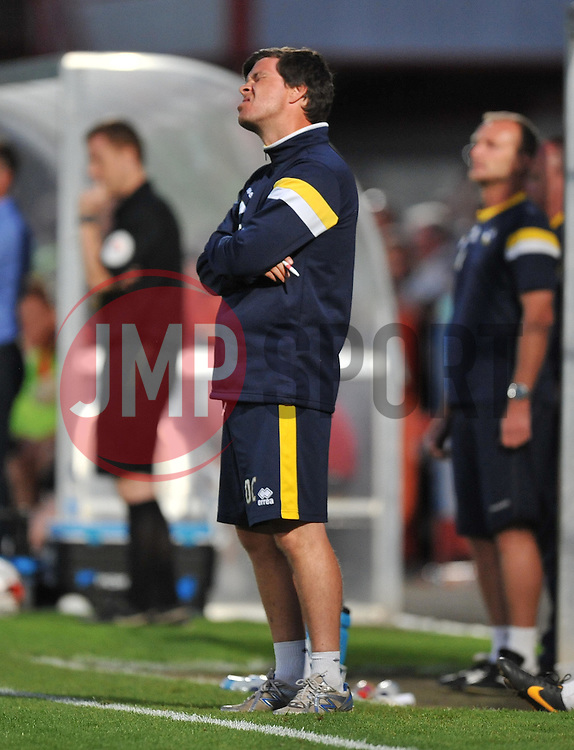 Bristol Rovers Manager, Darrell Clarke  - Photo mandatory by-line: Alex James/JMP - Tel: Mobile: 07966 386802 15/07/2014 - SPORT - FOOTBALL - Whaddon Road- Cheltenham  -  Cheltenham Town V Bristol Rovers - preseason