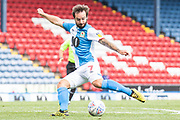 Blackburn Rovers forward Adam Armstrong in action during the EFL Sky Bet Championship match between Blackburn Rovers and Bristol City at Ewood Park, Blackburn, England on 20 June 2020.