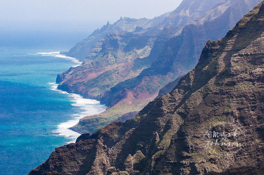 View of the Na Pali Coast from the Nualolo Valley trail, Kauai, Hawaii