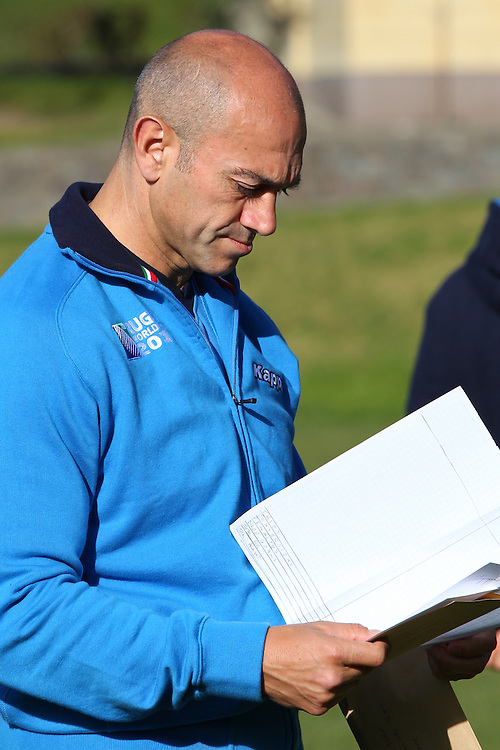 Italy Manager, Luigi Troiani, at the Italy World Cup Rugby Teams Training, Boys College, Nelson, New Zealand, Thursday, September 15, 2011, New Zealand. Credit:SNPA / Blair Hall