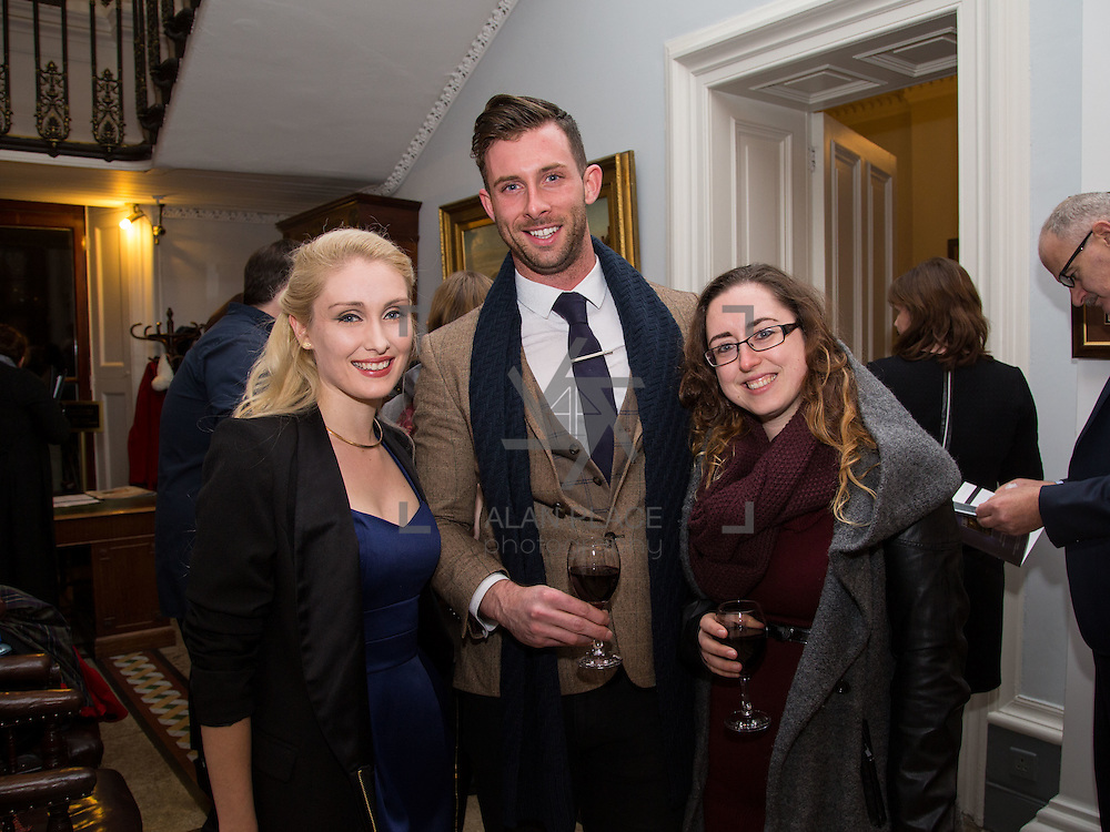 22.11.2016                   <br /> University of Limerick (UL) hosted a gala concert celebrating the music of renowned composer M&iacute;che&aacute;l &Oacute; S&uacute;illeabh&aacute;in.<br /> <br /> Pictured at a special reception before the concert were, Jennifer de Brun, IWA, Vincent Donnelly and Shannon Burns.<br /> <br /> <br /> The RT&Eacute; Concert Orchestra, conducted by David Brophy, performed with M&iacute;che&aacute;l and a selection of special guests in University Concert Hall Limerick. Picture: Alan Place