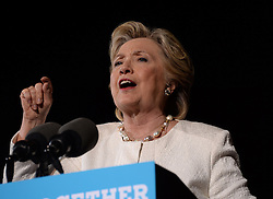 November 2, 2016 - Ft Lauderdale, FL, United States - Democratic presidential nominee Hillary Clinton speaks at a campaign rally at the Rev Samuel Deleove Memorial Park on November 1, 2016 in Ft Lauderdale, Florida  (Credit Image: © Solar/Ace Pictures via ZUMA Press)