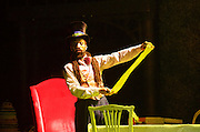 The Mad Hatter's Tea Party <br /> by Zoo Nation<br /> directed by Kate Prince<br /> presented by Zoo Nation, The Roundhouse & The Royal Opera House<br /> at The Roundhouse, London, Great Britain <br /> rehearsal <br /> 29th December 2016 <br /> <br /> <br /> <br /> Issac Turbo Baptiste<br /> as the Mad Hatter <br /> <br /> <br /> <br /> Photograph by Elliott Franks <br /> Image licensed to Elliott Franks Photography Services