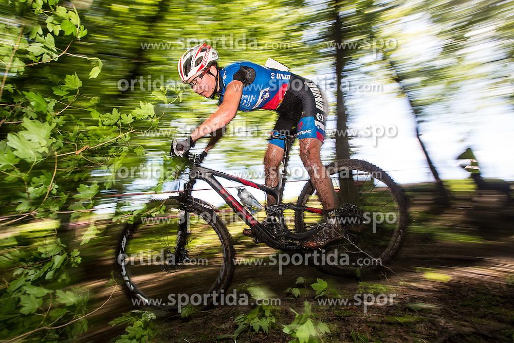 Tanja Zakelj of Slovenia during Cross Country XC Mountain bike race for Slovenian National Championship in Kamnik, on April 30, 2016 in Kamnik, Slovenia. Photo by Grega Valancic / Sportida