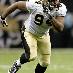 August 12, 2011; New Orleans, LA, USA; New Orleans Saints defensive end Cameron Jordan (94) during the second half of a preseason gameagainst the San Francisco 49ers at the Louisiana Superdome. The New Orleans Saints defeated the San Francisco 49ers Mandatory Credit: Derick E. Hingle