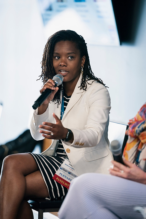 Dana Guthrie from Alchemy Angel Investors at the Wisconsin Entrepreneurship Conference at Venue 42 in Milwaukee, Wisconsin, Wednesday, June 5, 2019.