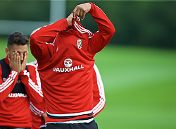 CARDIFF, WALES - Tuesday, September 1, 2015: Wales' captain Ashley Williams during a training session at the Vale of Glamorgan ahead of the UEFA Euro 2016 qualifying match against Cyprus. (Pic by David Rawcliffe/Propaganda)