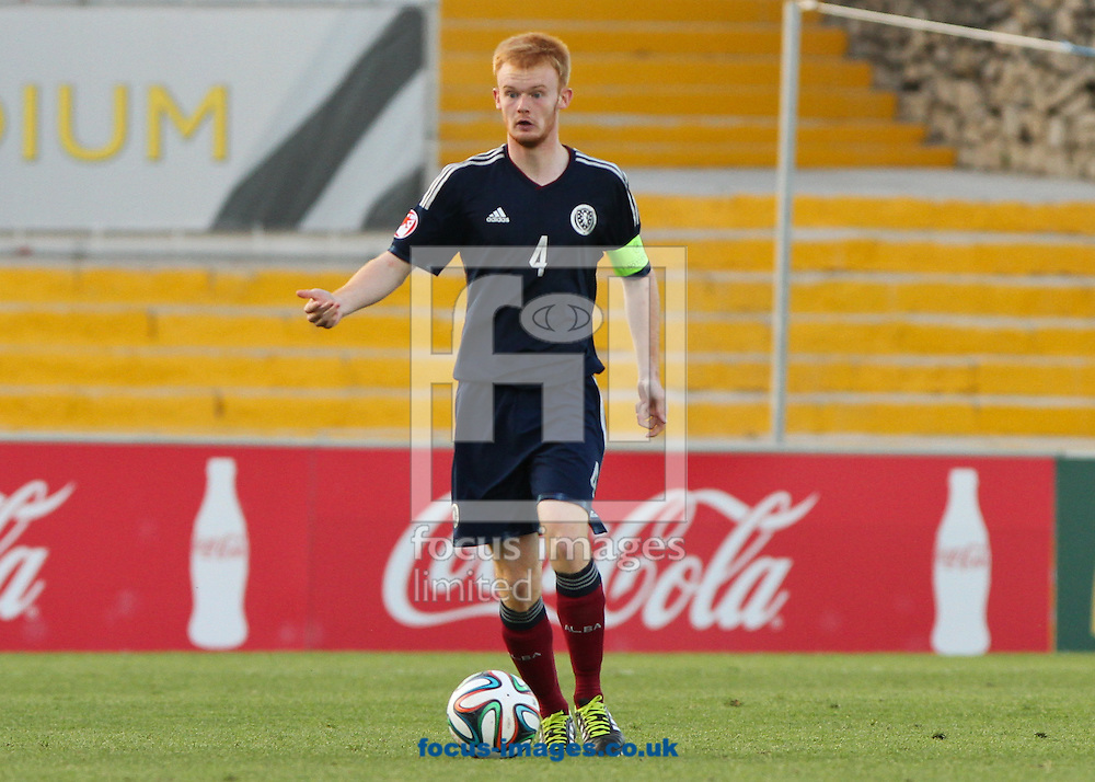 Jack Breslin of Scotland in possession of the ball during the 2014 UEFA European Under-17 match at Hibernians Stadium, Paola<br /> Picture by Tom Smith/Focus Images Ltd 07545141164<br /> 15/05/2014