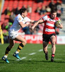 Jason Woodward of Gloucester Rugby - Mandatory by-line: Alex James/JMP - 24/02/2018 - RUGBY - Kingsholm - Gloucester, England - Gloucester Rugby v Wasps - Aviva Premiership