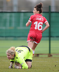 Bristol Academy's Angharad James scores  - Photo mandatory by-line: Joe Meredith/JMP - Mobile: 07966 386802 - 01/03/2015 - SPORT - Football - Bristol - SGS Wise Campus - Bristol Academy Womens FC v Aston Villa Ladies - Women's Super League