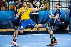 Diogo Silva of RK Celje Pivovarna Lasko during handball match between RK Celje Pivovarna Lasko (SLO) and of MOL Pick Szeged (HUN) in 9th Round of EHF Champions League 2019/20, on November 24, 2019 in Arena Zlatorog, Celje, Slovenia. Photo Grega Valancic / Sportida