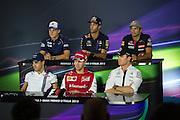 September 3-5, 2015 - Italian Grand Prix at Monza: Sebastian Vettel (GER), Ferrari, Nico Rosberg  (GER), Mercedes , Felipe Massa (BRA), Williams Martini Racing , Marcus Ericsson, Sauber Ferrari , Daniel Ricciardo (AUS), Red Bull-Renault, Carlos Sainz Jr. Scuderia Toro Rosso