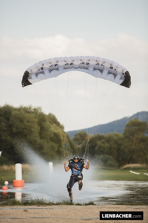 PD-Factory Team member Pablo Hernandez is competing in Zone Accuracy during the Pink Open Canopy Piloting Competition in Klatovy, August 2013