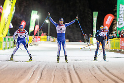 18.01.2019, Biathlonzentrum, Obertilliach, AUT, Dolomitenlauf, Dolomitensprint, im Bild v.l. Enrico Nizzi (ITA), Steafan Zelger (ITA), Max Olex (GER) // during the sprint competition of the Dolomitenlauf at the Biathlonzentrum in Obertilliach, Austria on 2019/01/18. EXPA Pictures © 2019, PhotoCredit: EXPA/ Dominik Angerer