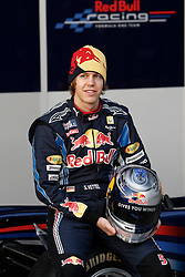 JEREZ DE LA FRONTERA, SPAIN - Wednesday, February 10, 2010: Sebastian Vettel (Red Bull Racing) during testing at the Circuito de Jerez. (Pic by Juergen Tap/Propaganda/Hoch Zwei)