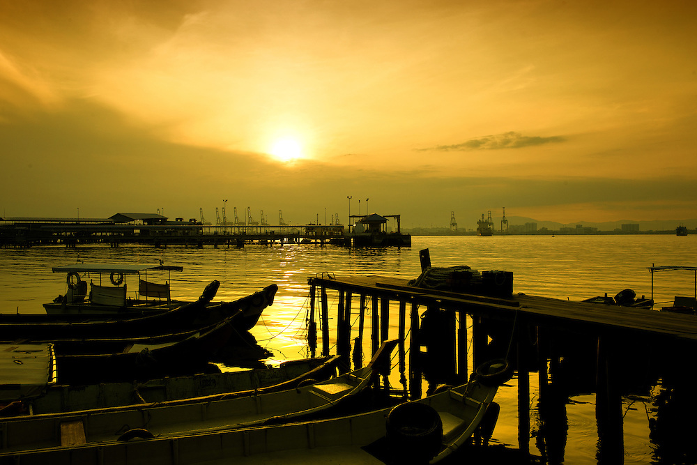 Sunrise at Chew Jetty of Penang