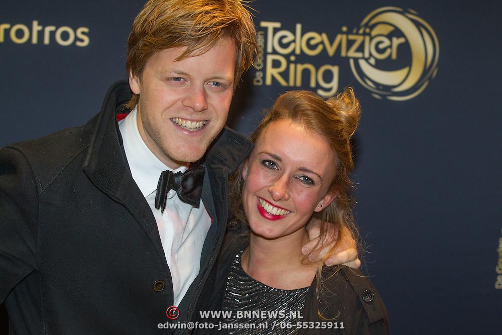 NLD/Amsterdam/20151015 - Televizier gala 2015, Lex Uiting en partner .....