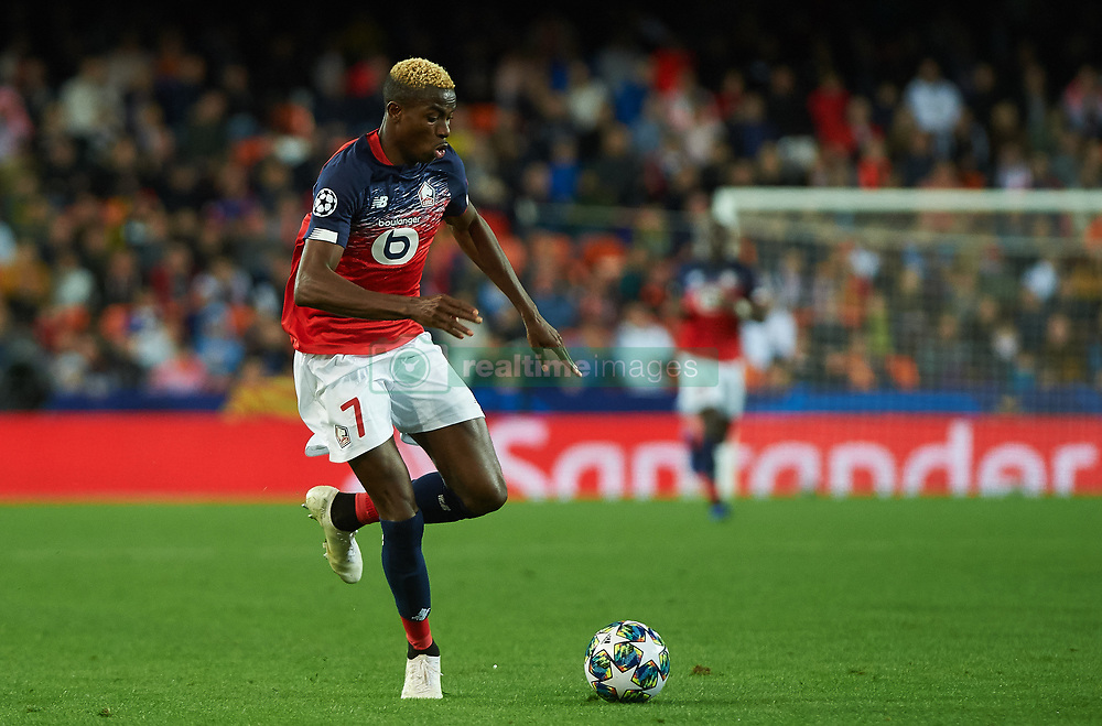 November 5, 2019, Valencia, Valencia, Spain: Victor James Osimhen of Losc Lille during the during the UEFA Champions League group H match between Valencia CF and Losc Lille at Estadio de Mestalla on November 5, 2019 in Valencia, Spain (Credit Image: © AFP7 via ZUMA Wire)