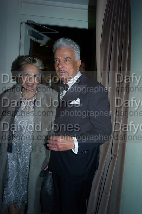 LESLIE CARON; NICKY HASLAM, Nicky Haslam hosts dinner at  Gigi's for Leslie Caron. 22 Woodstock St. London. W1C 2AR. 25 March 2015